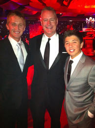 with Good Luck Charlie co-stars Jason Dolley and Bradley Steven Perry