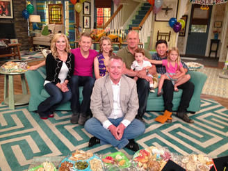 """with """"Good Luck Charlie"""" cast"""