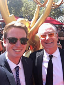 with Max Staley at 2014 Emmys