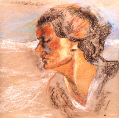 Study of a Fisherwife's Head (Echoes of Sorolla)