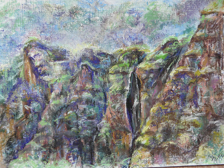 the Cascade of the Gorge (Tepoztlan)