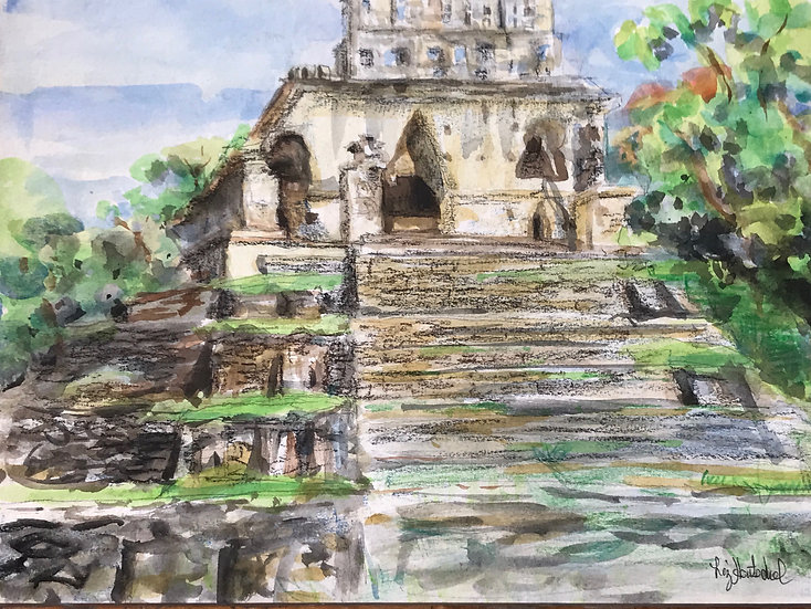 Temple of the Sun in Palenque