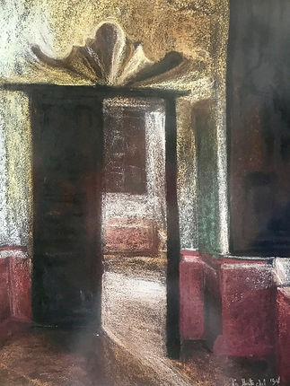 LAS PUERTAS. Pastel sobre papeel gamucina. 60 x 47 cm ( 24 x 8,5 inches).jpg