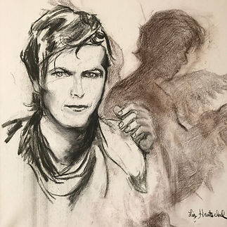 BOWIE (Shadows). Carboncillo sobre tela..jpg