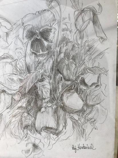 Pensamientos Esbozados (Sketch of Pansies)