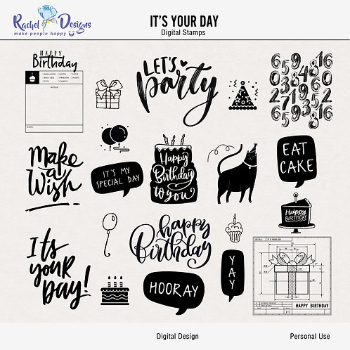 It's Your Day - Digital Stamps
