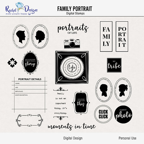 Family Portrait - Digital Stamps