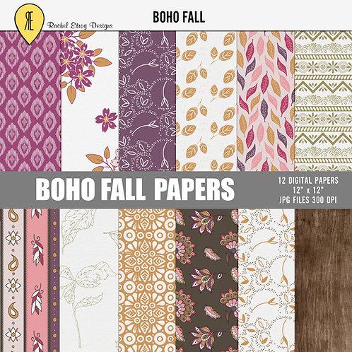 Boho Fall - Papers
