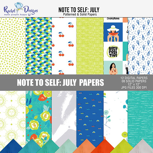 Note To Self July - Papers