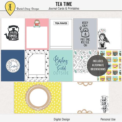 Tea Time - Journal cards