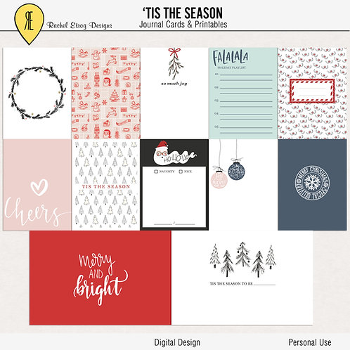 Tis The Season - Journal cards