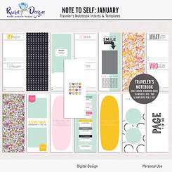 Note To Self January - Traveler's Notebook