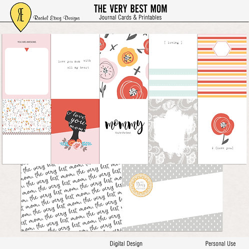 The very best mom - Journal cards
