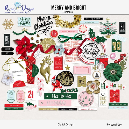 Merry And Bright - Elements