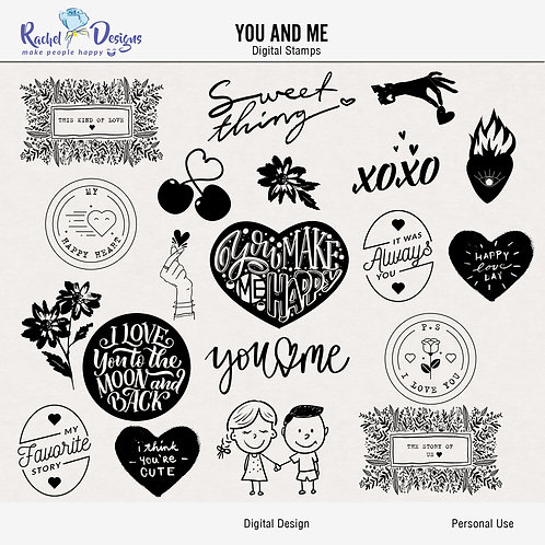 You And Me - Digital Stamps