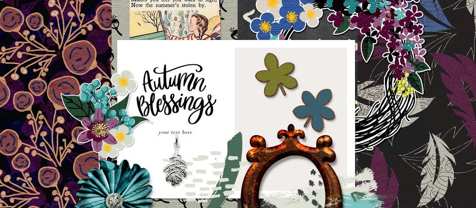 Elegant Autumn - November Pixel Scrapper Blog Train