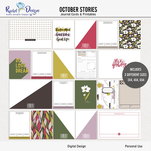 October Stories - Journal cards