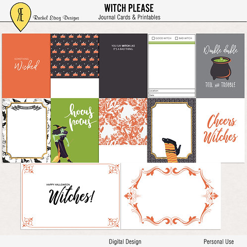 Witch Please - Journal cards
