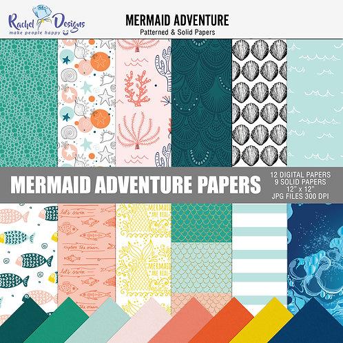 Mermaid Adventure - Papers