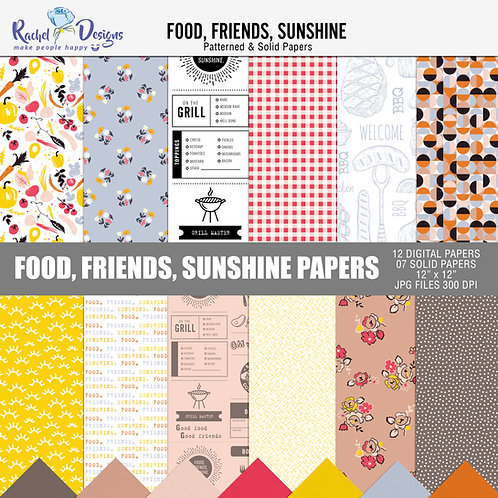 Food, Friends, Sunshine - Papers