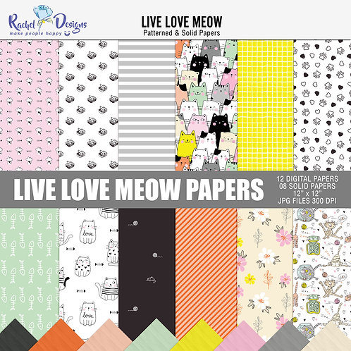 Live Love Meow - Papers
