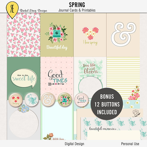 Spring Journal Cards