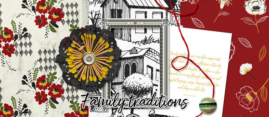 Family Traditions - November Pixel Scrapper Blog Train