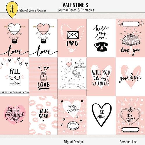 Valentine's - Journal cards