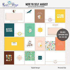 Note To Self August - Journal cards