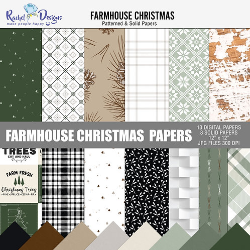 Farmhouse Christmas - Papers