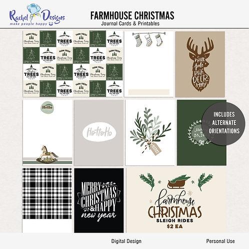 Farmhouse Christmas - Journal cards