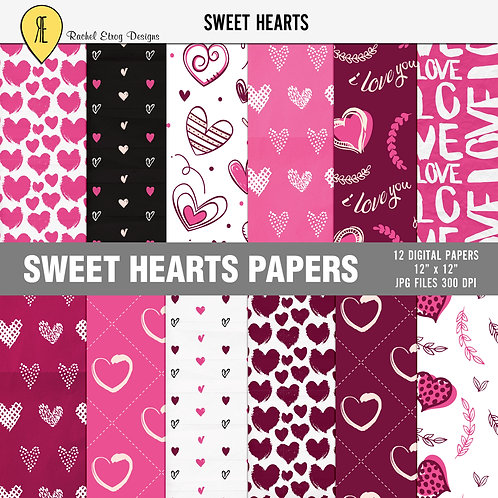 Sweet Hearts - Papers