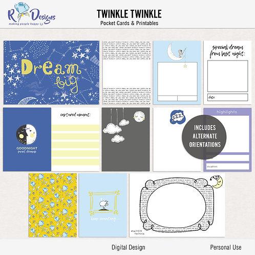 Twinkle Twinkle - Journal cards