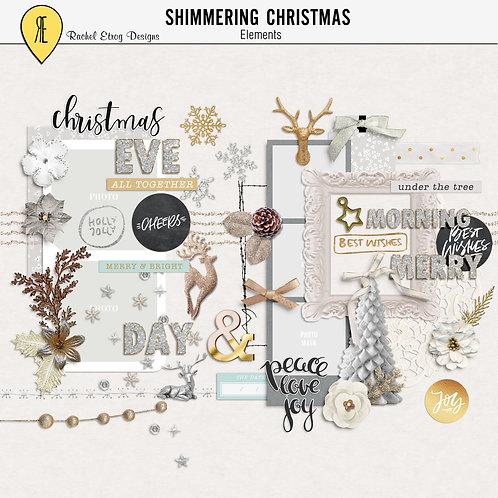 shimmering christmas elements
