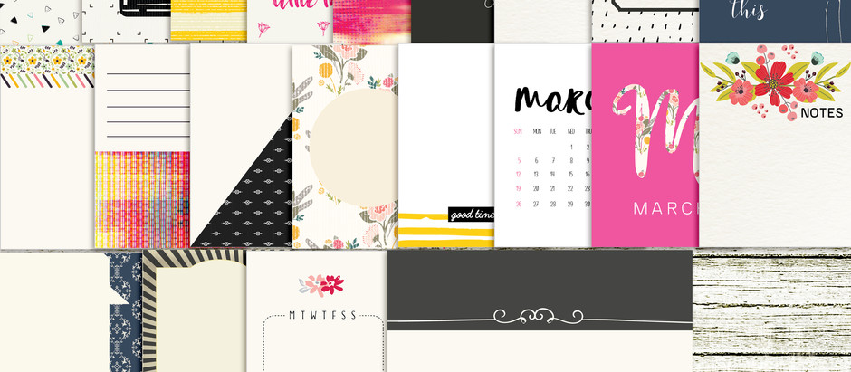 March Documented - journal cards