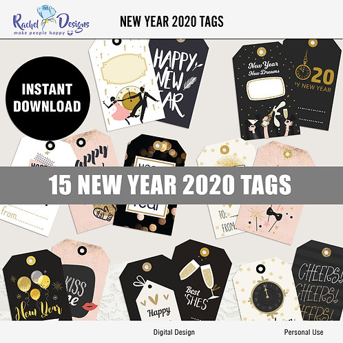 New Year 2020 Tags