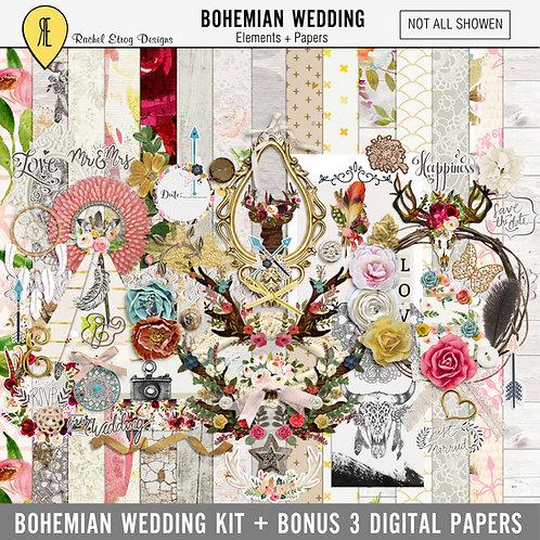 Bohemian Wedding - Digital Scrapbooking Full Kit