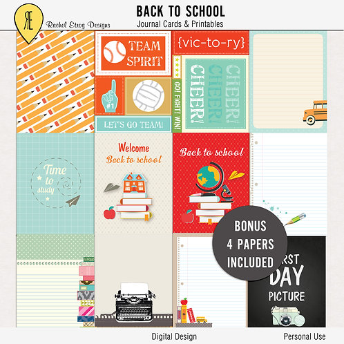 Back To School Journal Cards