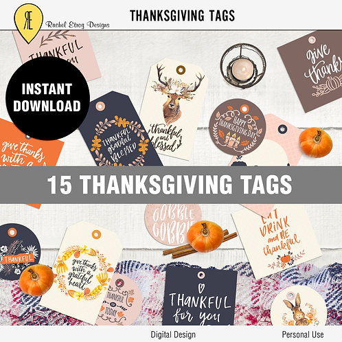 Thanksgiving Tags
