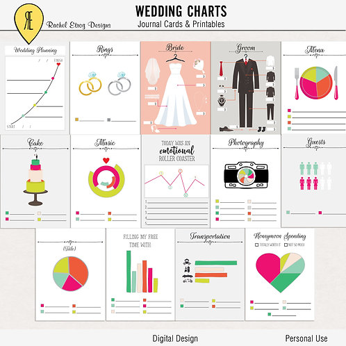 Wedding Charts Journal Cards