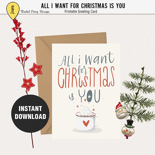 All i want for christmas - Greeting card