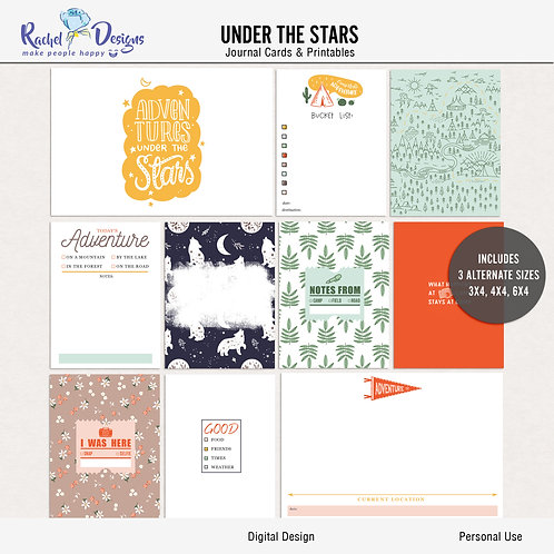 Under The Stars - Journal cards