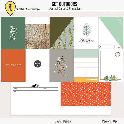 Get Outdoors - Journal cards