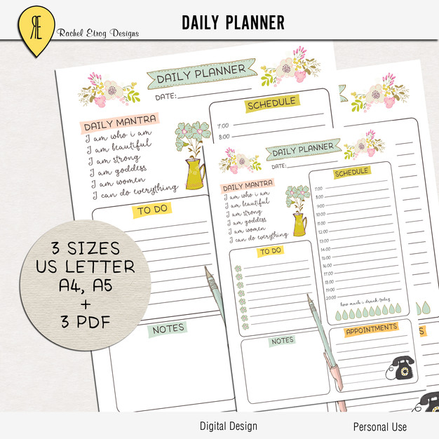 image about Digital Day Planner named Electronic Day by day Planner