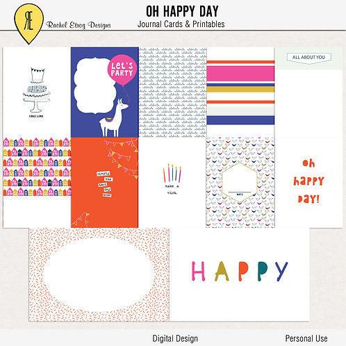 Oh Happy Day - Journal cards