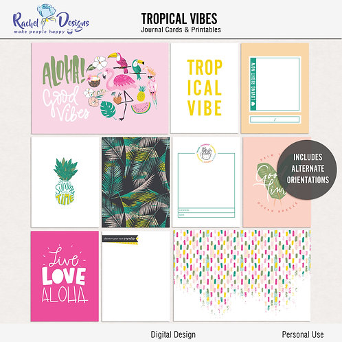 Tropical Vibes- Journal cards