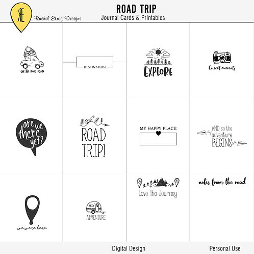 Road Trip Journal Cards
