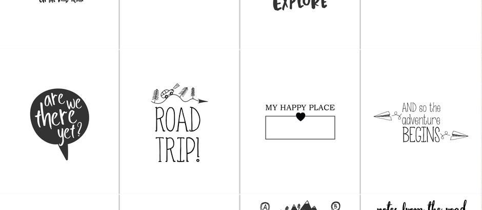 Shop Update - Road Trip Journal cards