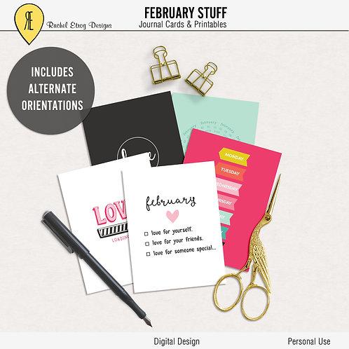 February Stuff - Journal cards