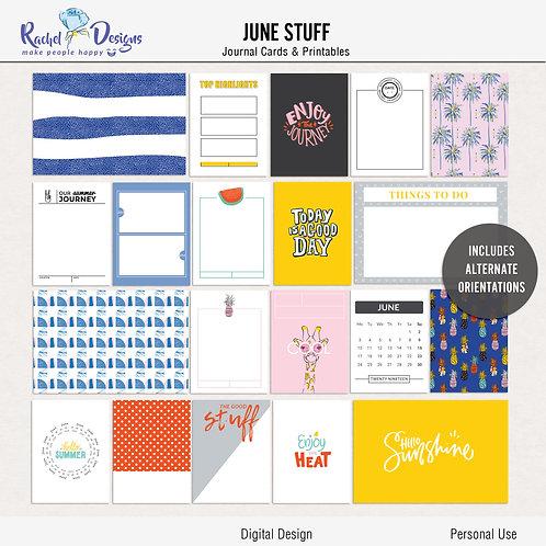 June Stuff- Journal cards
